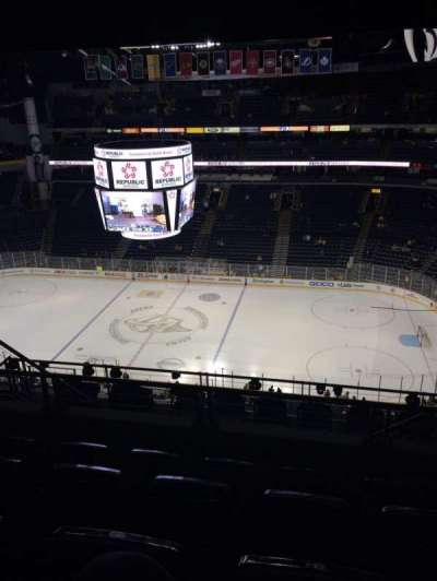 Bridgestone Arena, section: 327, row: K, seat: 8