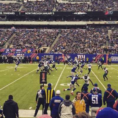 MetLife Stadium, section: 111a, row: 8, seat: 1