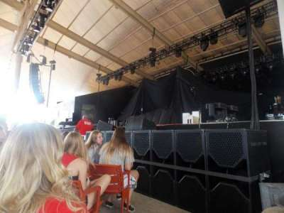 Pier Six Pavilion, section: 102, row: D, seat: 9