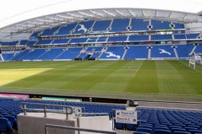 American Express Community Stadium, section: E1B, row: V