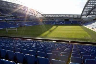 American Express Community Stadium, section: S1C, row: P