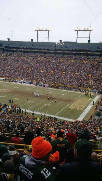Lambeau Field, section: 336, row: 9, seat: 25