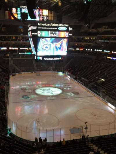 American Airlines Center, section: 302, row: AA, seat: 12