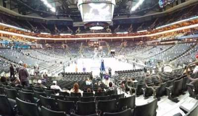 Spectrum Center, section: 110, row: N, seat: 3