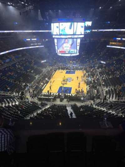 Amway Center, section: 216, row: 1, seat: 18