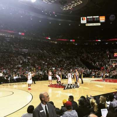 Moda Center, section: 102, row: A