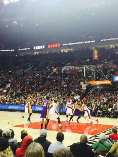 Moda Center, section: 110, row: A, seat: 11
