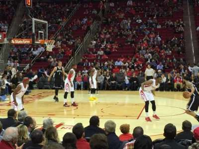 Toyota Center, section: 121, row: 5, seat: 2