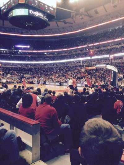 United Center, section: 109, row: 2, seat: 16