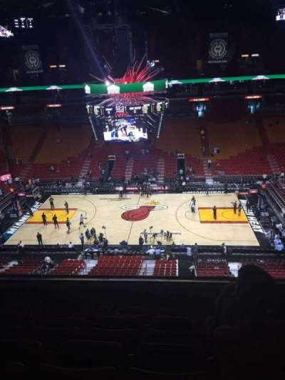 American Airlines Arena, section: 324, row: 5, seat: 7