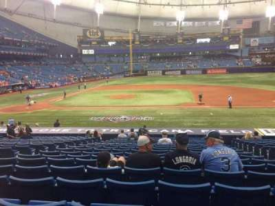 Tropicana Field, section: 114, row: DD, seat: 7