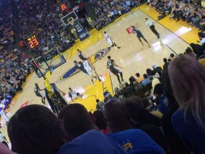 Oracle Arena, section: 121, row: 16, seat: 15
