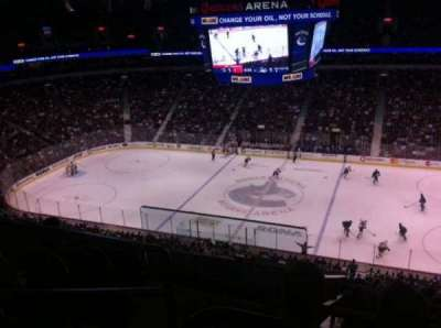 Rogers Arena, section: 307, row: 12, seat: 1