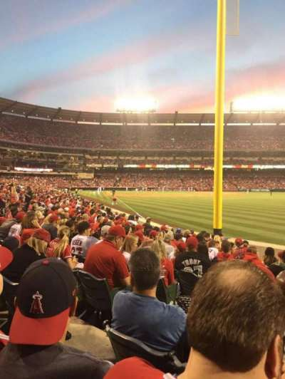 Angel Stadium, section: F134, row: L, seat: 4