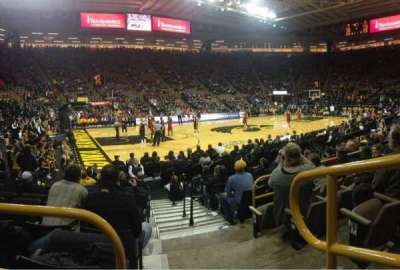 Carver-Hawkeye Arena, section: M, row: 10, seat: 2