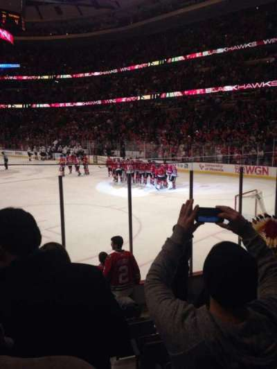 United Center, section: 108, row: 8, seat: 3