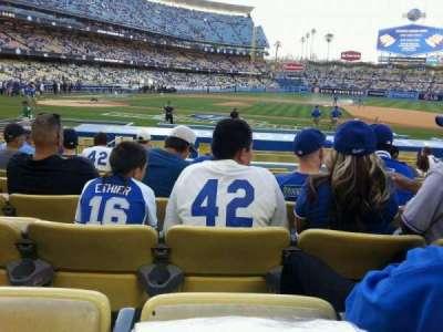 Dodger Stadium, section: 18fd, row: J, seat: 6