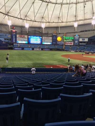Tropicana Field, section: 127, row: AA, seat: 2
