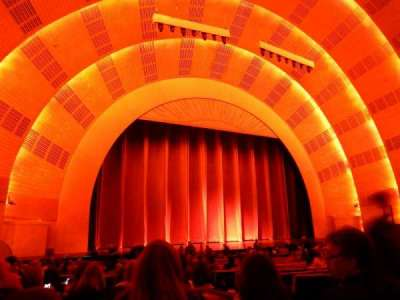 Radio City Music Hall, section: Orchestra 6, row: C, seat: 604