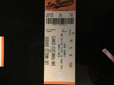 AT&T Park, section: 103, row: 26, seat: 14
