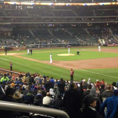 Citi field, section: 108, row: 27, seat: 1