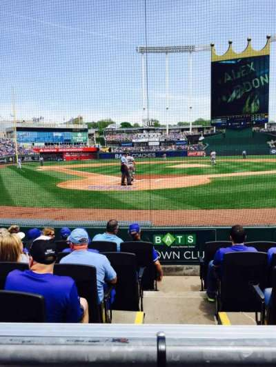 Kauffman Stadium, section: 129, row: A, seat: 4