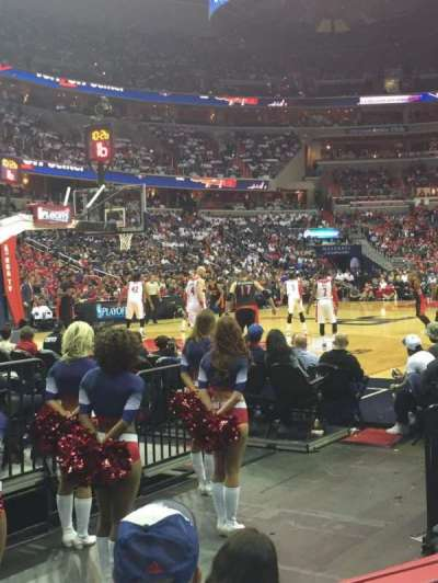 Verizon Center, section: 108, row: C, seat: 6