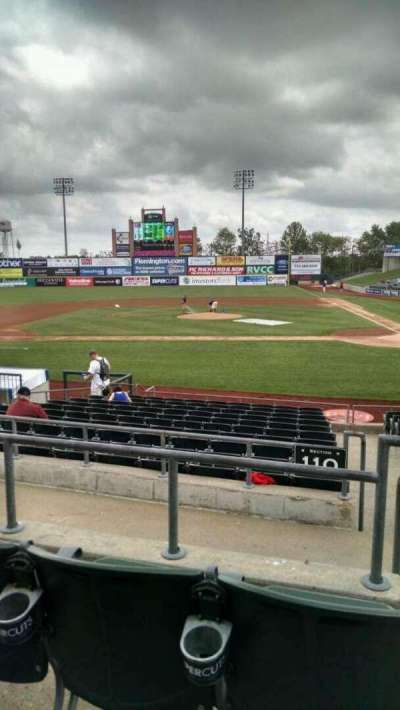 TD Bank Ballpark, section: 210, row: M, seat: 1