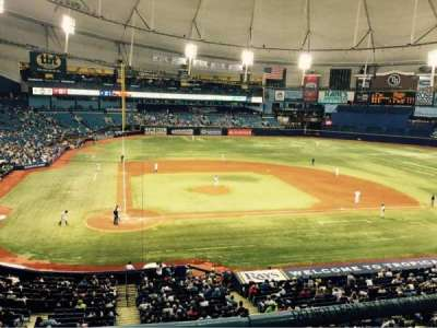 Tropicana Field, section: 208, row: B, seat: 7