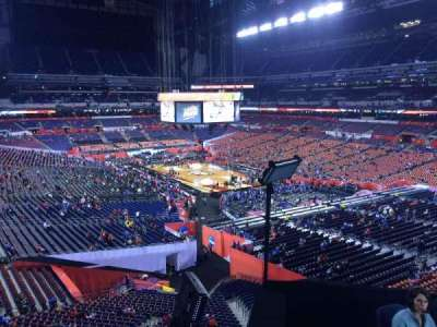 Lucas Oil Stadium, section: 404, row: 1, seat: 1