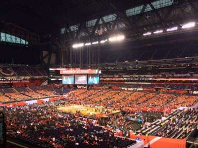Lucas Oil Stadium, section: 434, row: 1, seat: 1