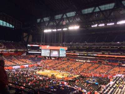 Lucas Oil Stadium, section: 435, row: 1, seat: 1