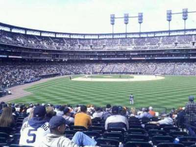 Comerica Park, section: 105, row: H, seat: 3