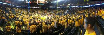 Oracle arena, section: 108, row: 10, seat: 11
