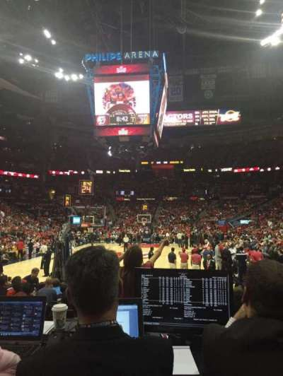 Philips Arena, section: 120, row: MM