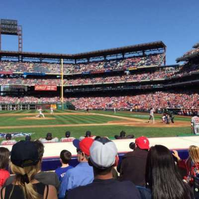 Citizens Bank Park, section: 130, row: 5, seat: 3