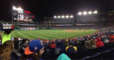 Nationals Park, section: 109, row: M, seat: 4