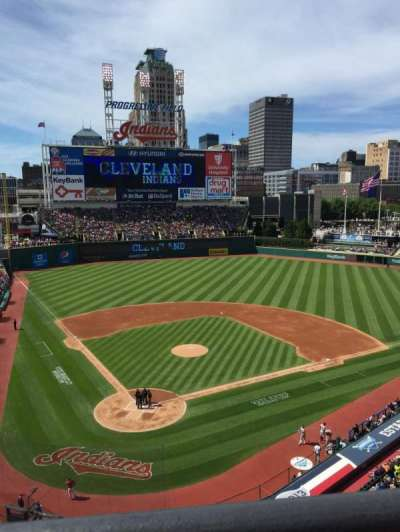 Progressive Field, section: 452, row: A, seat: 9
