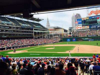 Progressive Field, section: 142, row: DD, seat: 1