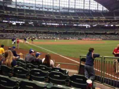Miller Park, section: 109, row: 6, seat: 27