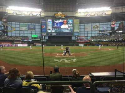 Miller Park, section: 118, row: 6, seat: 2