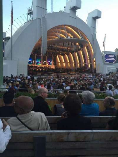 Hollywood Bowl, section: E, row: 4, seat: 19
