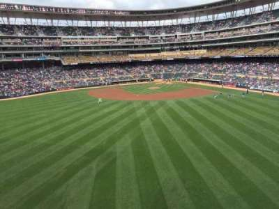 Target Field, section: 233, row: 1, seat: 14