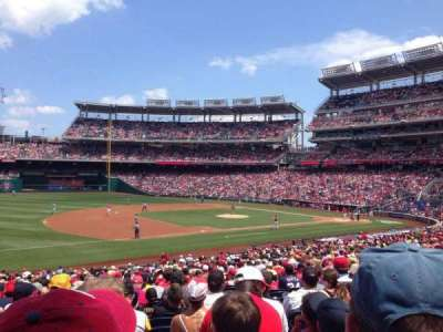 Nationals Park, section: 113, row: MM, seat: 14