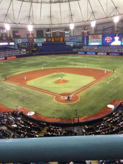 Tropicana Field, section: 301, row: A, seat: 14