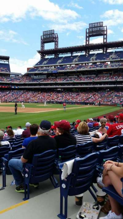 Citizens Bank Park, section: 136, row: 11, seat: 1