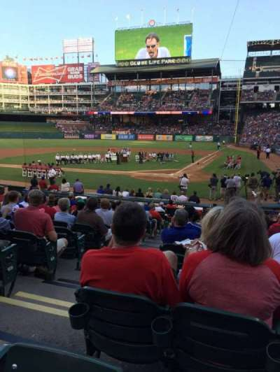 Globe Life Park in Arlington, section: 23, row: 15, seat: 3