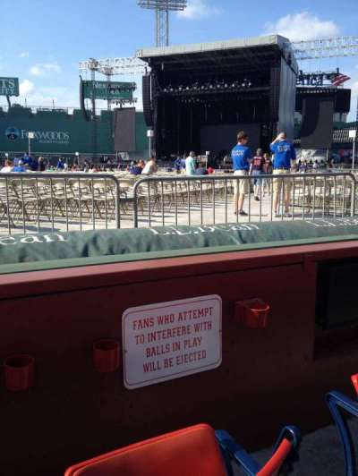 Fenway Park, section: Field Box 14, row: 2, seat: 2
