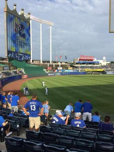 Kauffman Stadium, section: 108, row: U, seat: 5