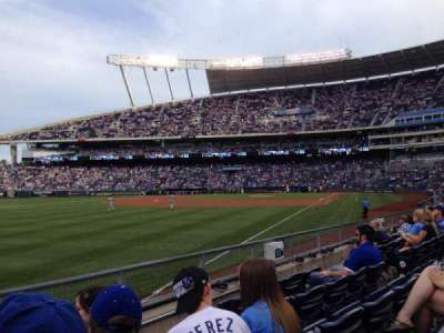 Kauffman Stadium, section: 112, row: J, seat: 1